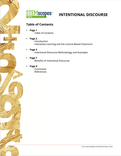 Intentional Discourse White Paper
